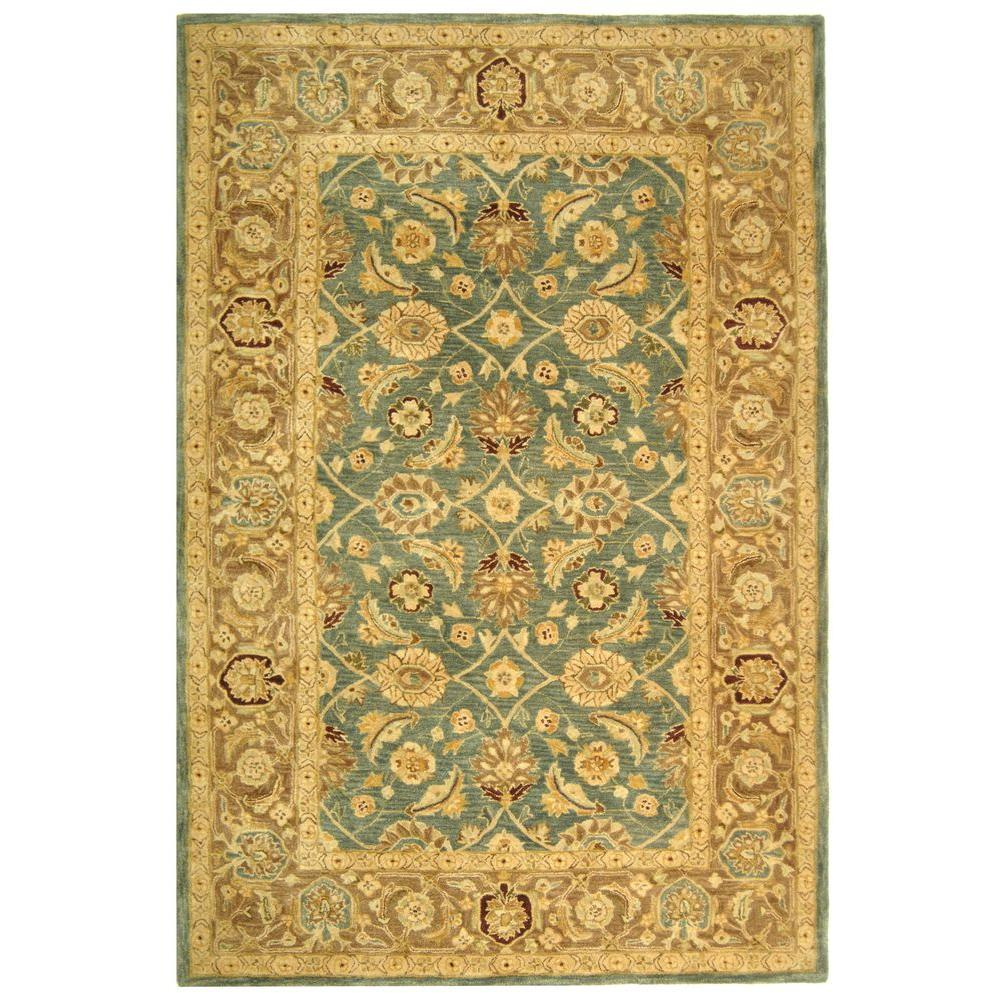 Safavieh Antiquity Teal Blue Taupe 4 Ft X 6 Ft Area Rug