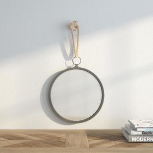 13.75 in. H x 13 in. W Round Nautical Mirror