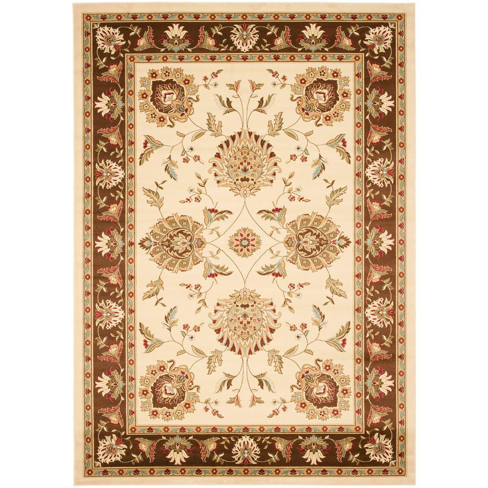 Lyndhurst Ivory/Brown 8 ft. x 11 ft. Area Rug