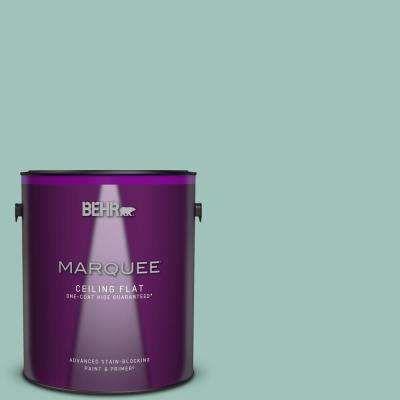 1 gal. #MQ6-36 Cascade Green One-Coat Hide Ceiling Flat Interior Paint and Primer in One