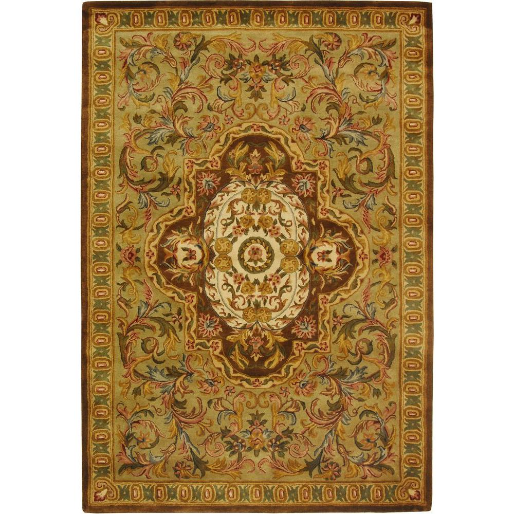 Safavieh Classic Beige/Olive 5 ft. x 8 ft. Area Rug