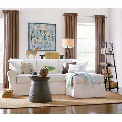Mayfair 2 Piece Classic Smoke Sectional