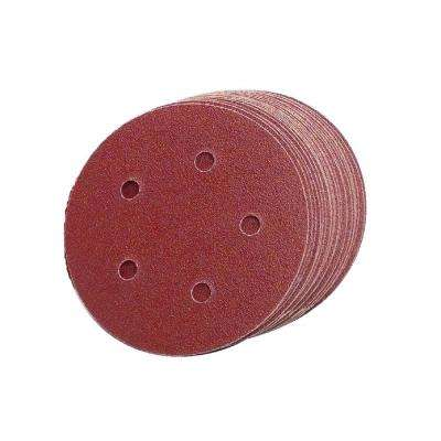 5 in. 5-Hole 60-Grit Premium Heavy F-Weight Aluminum Oxide Hook and Loop Sanding Discs (50 per Box)