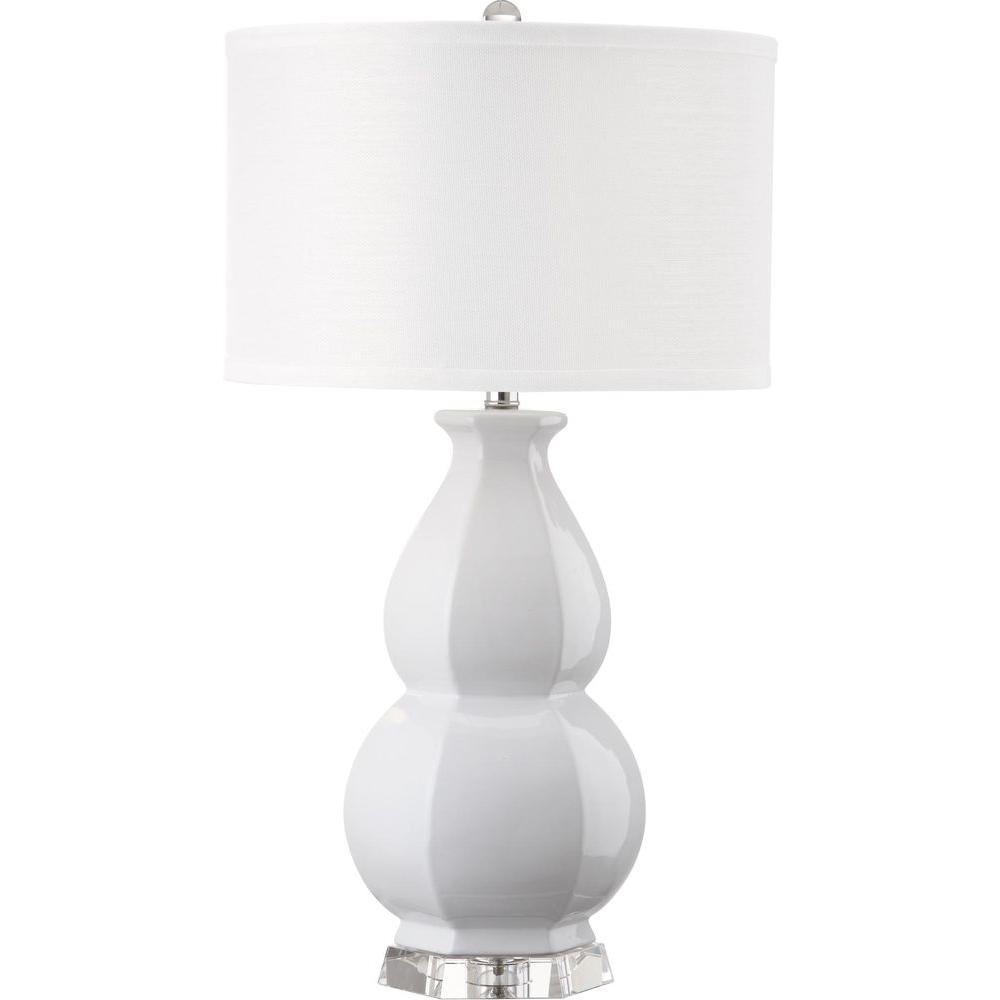 White Table Lamp With Shade