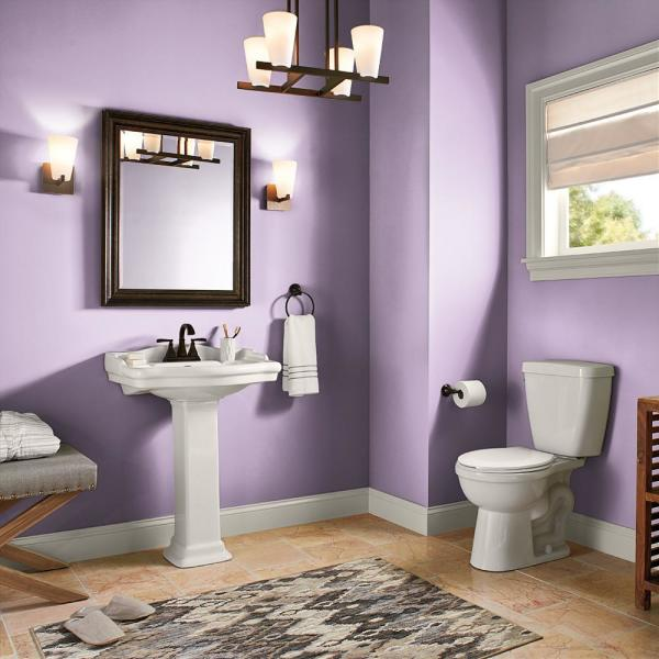 Reviews For Behr Premium Plus 5 Gal 660b 4 Pale Orchid Semi Gloss Enamel Low Odor Interior Paint And Primer In One 340005 The Home Depot