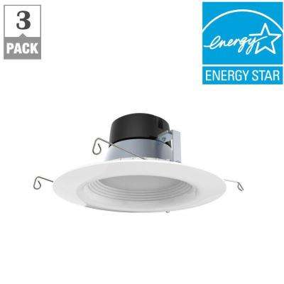 5in. & 6in. White Integrated LED Recessed Trim (3-Pack)