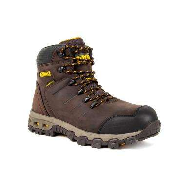 Farnham WP Men's Size 13(W) Dark Brown Leather Aluminum Toe Waterproof 6 in. Work Boot