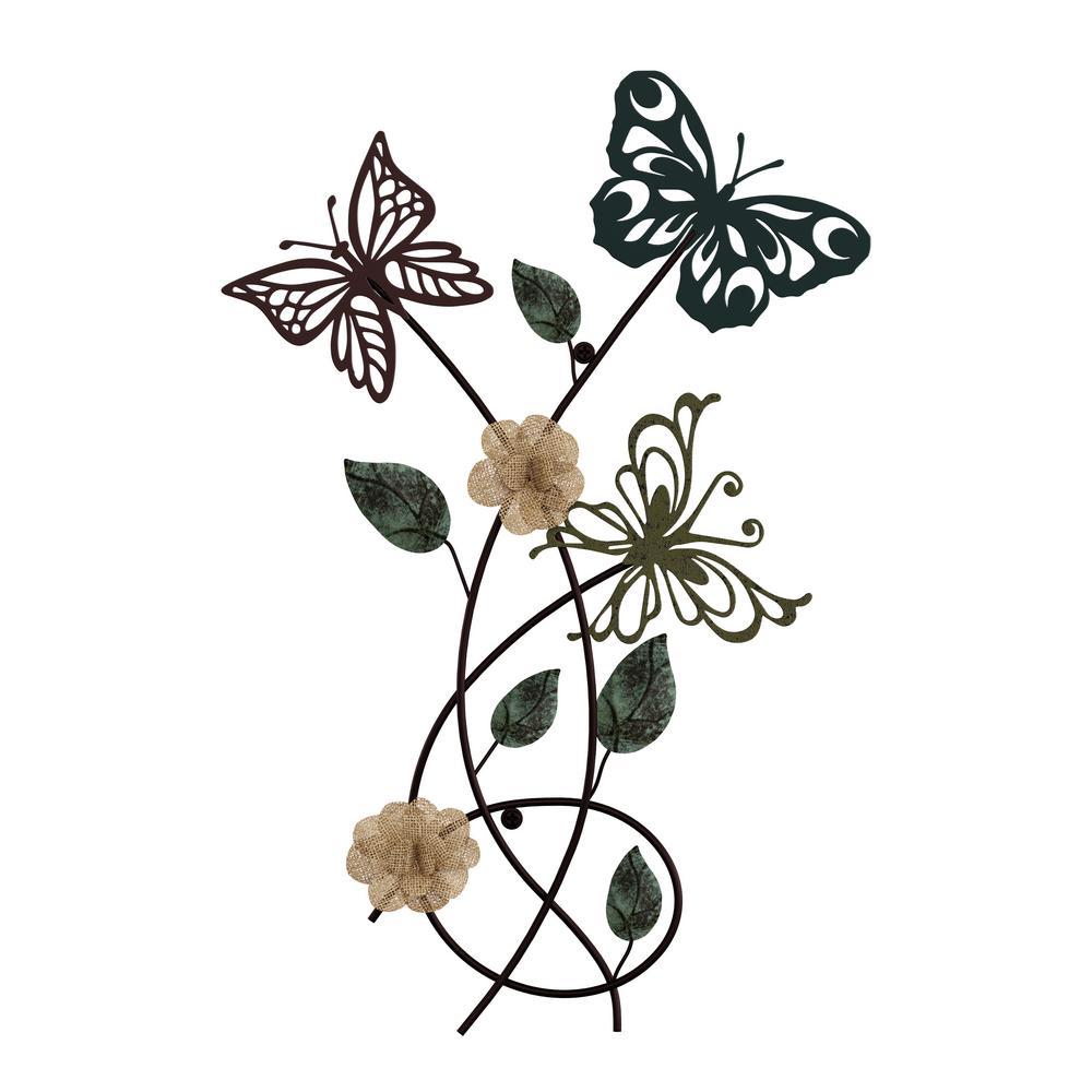 Metal Garden Butterflies Wall Art