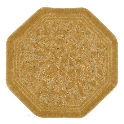 Wellington 4 ft. x 4 ft. Nylon Octagon Bath Rug in Gold