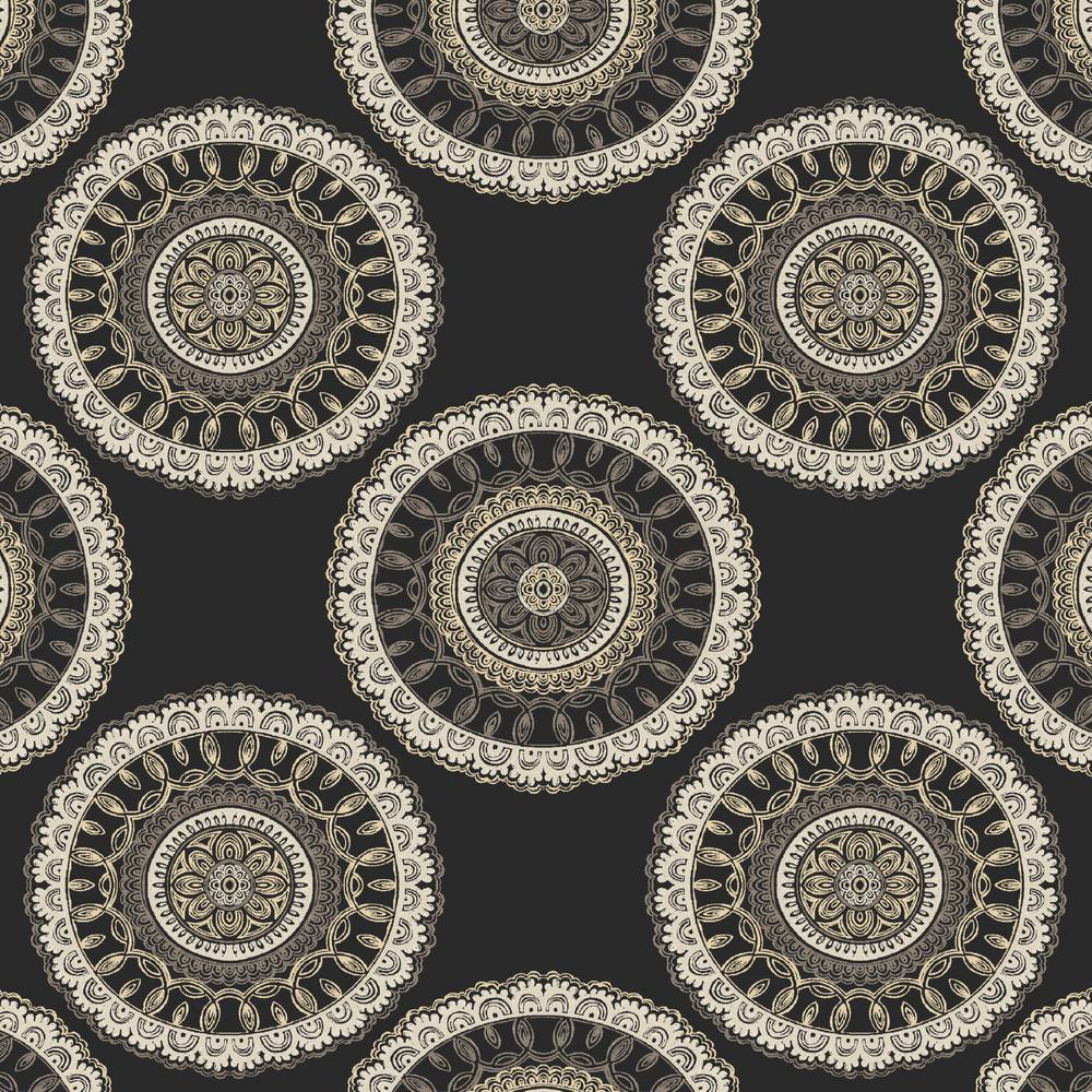 Black Geo Outdoor Fabric