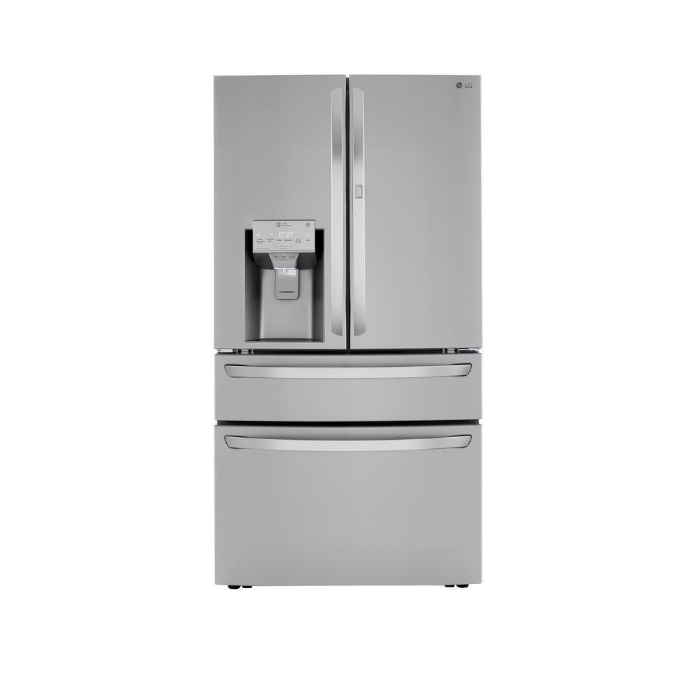 29.7 cu.ft. Smart French 4-Door, Door-In-Door Full Convert with Craft Ice Refrigerator in PrintProof Stainless Steel