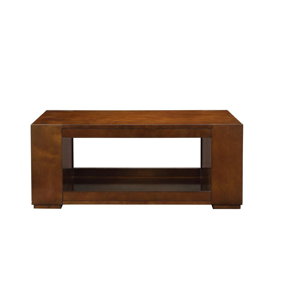 Acme Furniture Pisanio Espresso Coffee Table 84520 The Home Depot