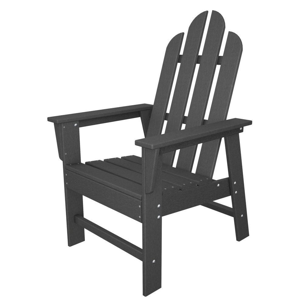 POLYWOOD Long Island Slate Grey Patio Dining Chair