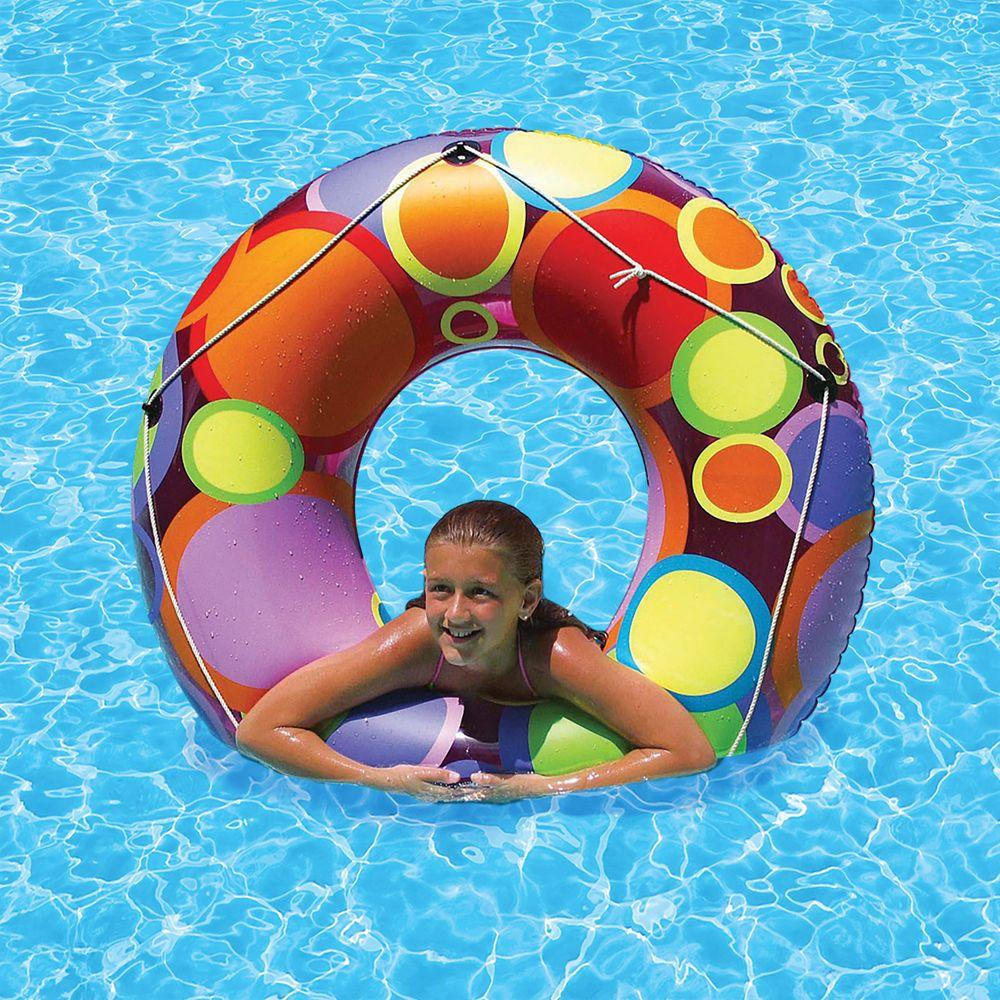 Poolmaster 48 inch Bright Color Circles Swimming Pool Float Tube
