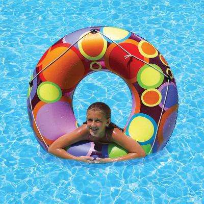 48 in. Bright Color Circles Tube