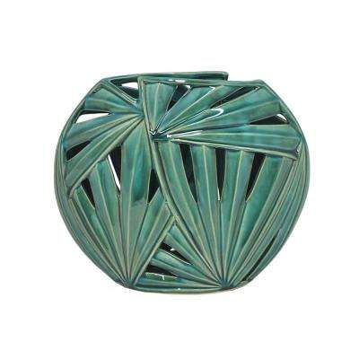 Green Ceramic Decorative Vase
