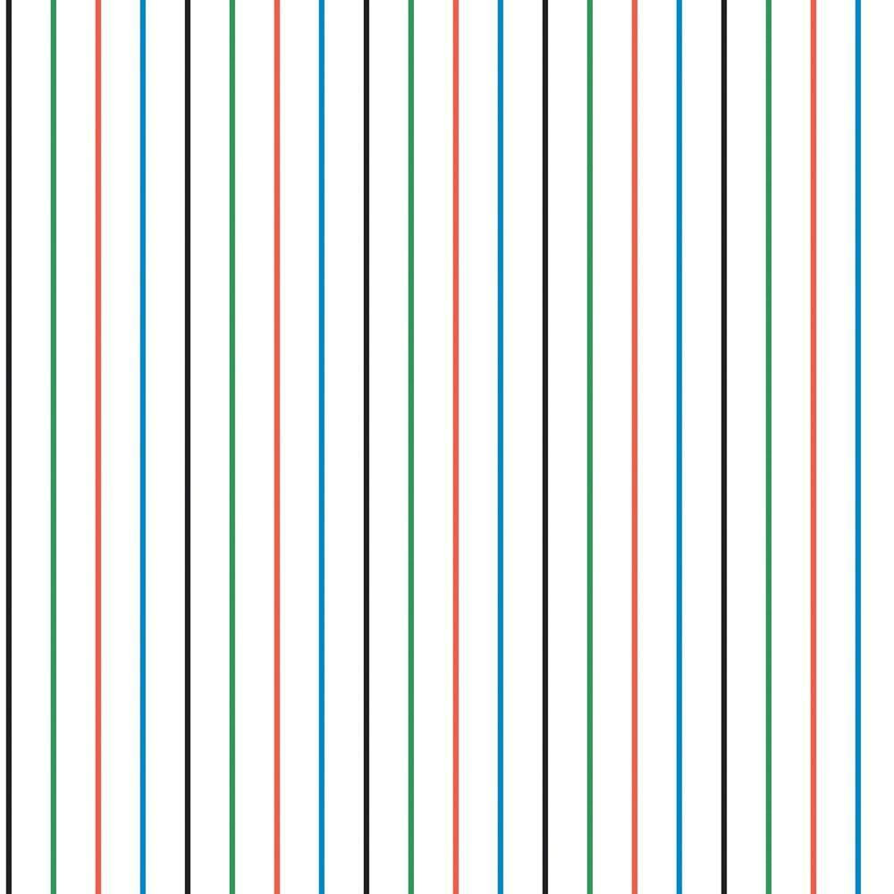 The Wallpaper Company 8 in. x 10 in. Multi Colored Pin Stripe Wallpaper Sample