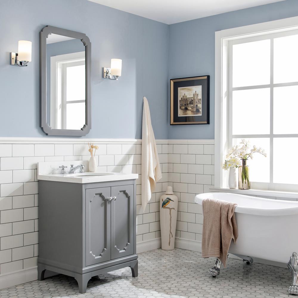 Light Grey Bathroom Vanity By Queen 2