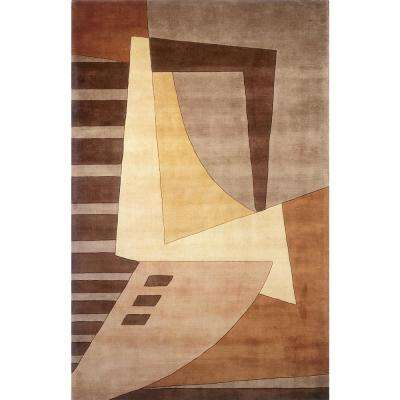 Contempo Light Brown 5 ft. 3 in. x 8 ft. Indoor Area Rug