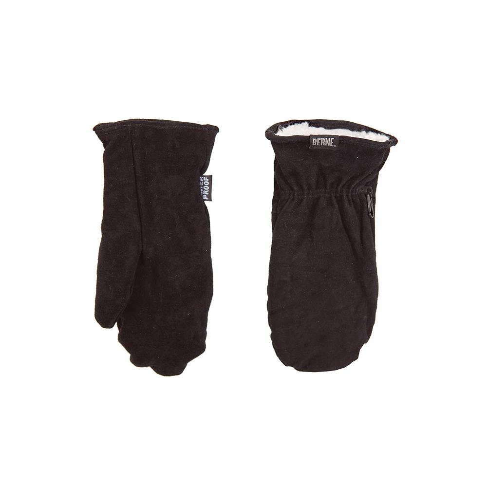 f968fbfb25 Berne 4 XL Black Leather Sherpa Lined Mittens-GLV95BK600 - The Home ...