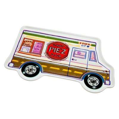 Food Truck Pizza Porcelain Tray