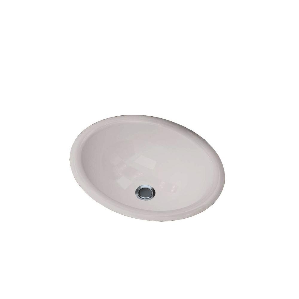 Cantrio Oval Drop-In Bathroom Sink in White