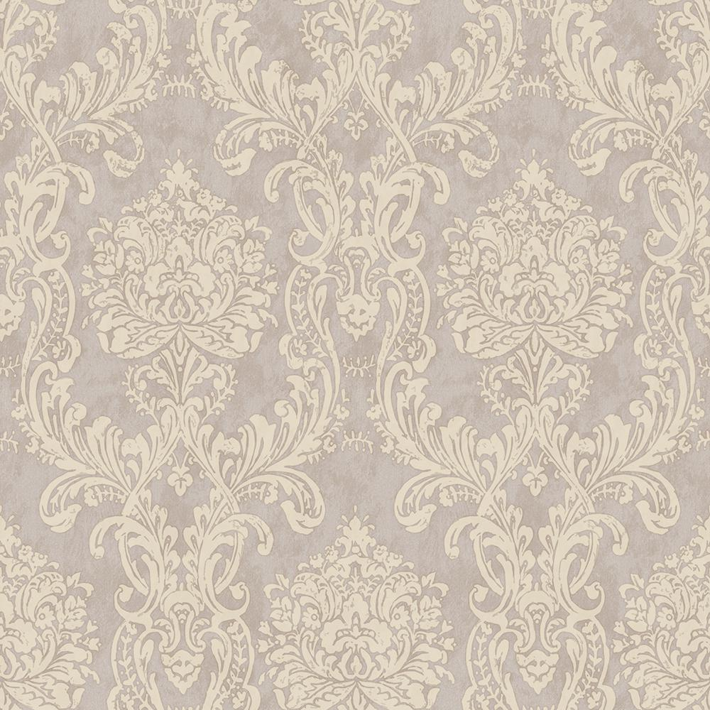 Chesapeake Samantha Purple Damask Wallpaper