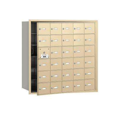 3600 Series Sandstone Private Front Loading 4B Plus Horizontal Mailbox with 30A Doors (29 Usable)