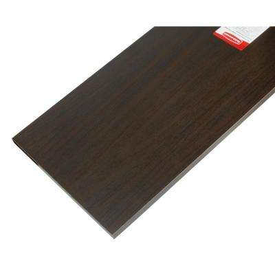 12 in. x 72 in. Espresso Laminated Wood Shelf