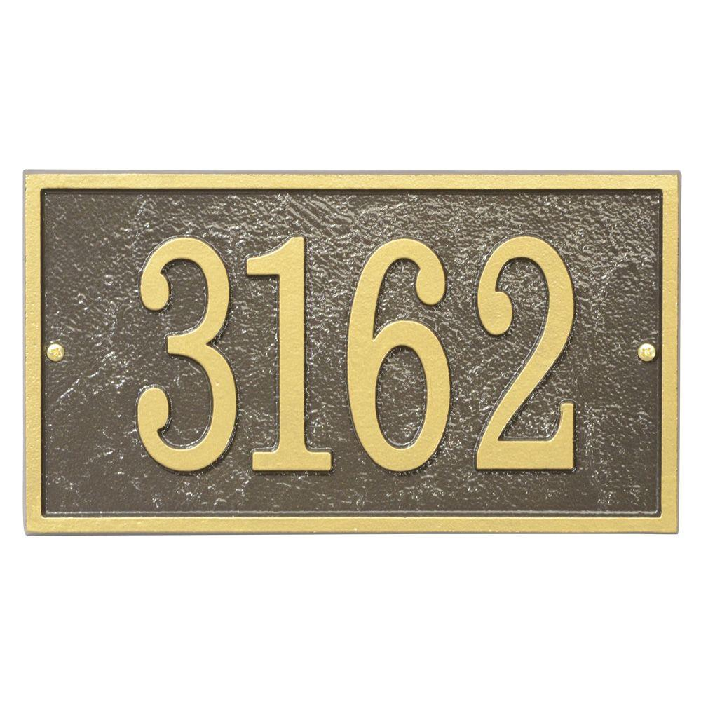 Two Sided Address Plaque Lawn House Sign Numbers Wall Custom Made Order Oval LG