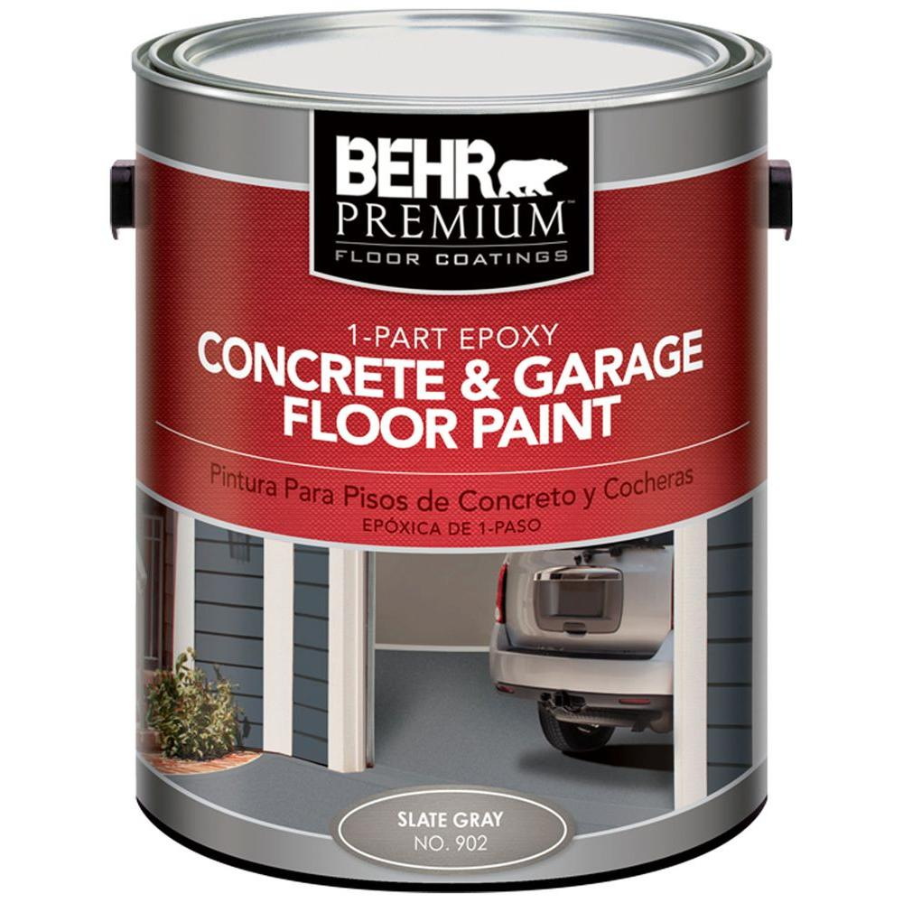Behr premium 1 gal 902 slate gray 1 part epoxy concrete and 902 slate gray 1 part epoxy concrete and garage floor paint 90201 the home depot rubansaba