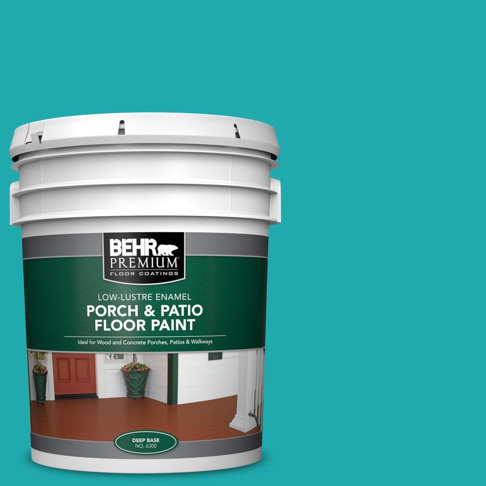 5 gal. #P460-5 Fiji Low-Lustre Enamel Interior/Exterior Porch and Patio Floor Paint