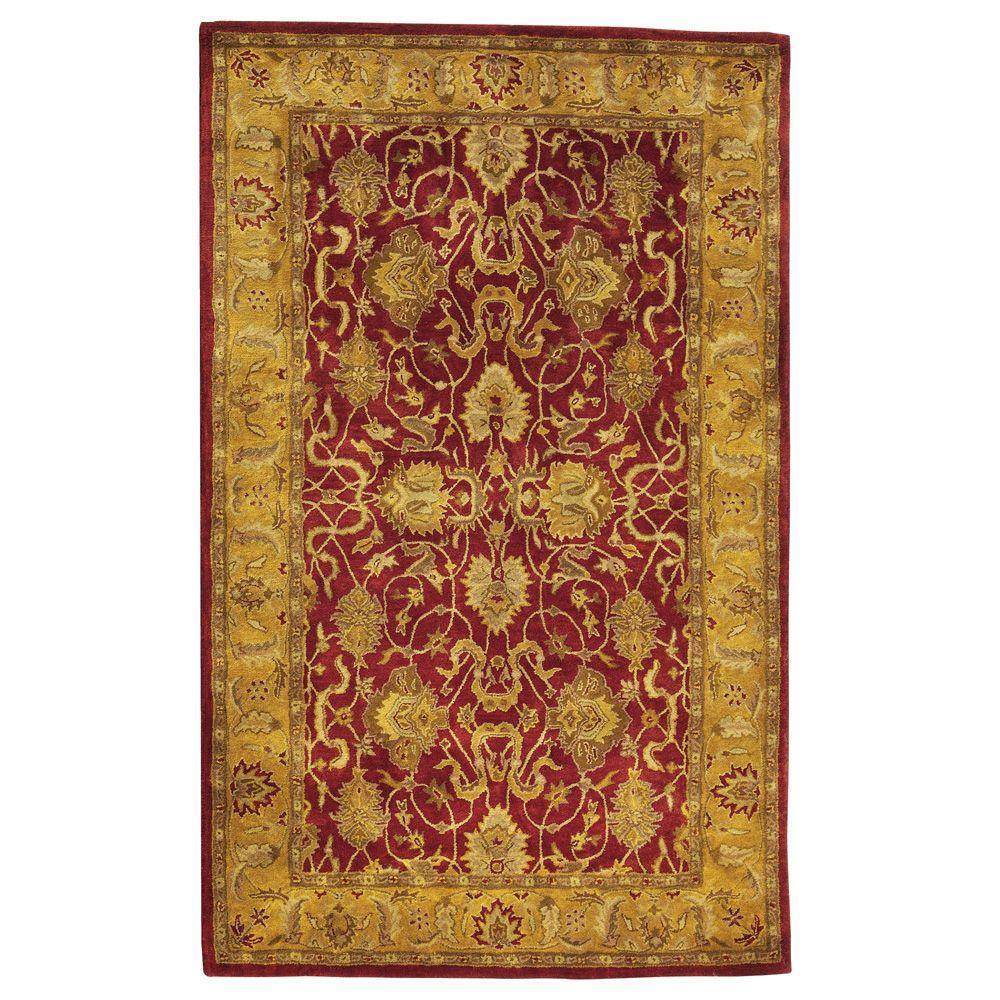 Home Decorators Collection Rochelle Red 3 ft. 3 in. x 5 ft. 3 in. Area Rug