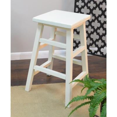 O'Malley 23.75 in. Antique White Bar Stool