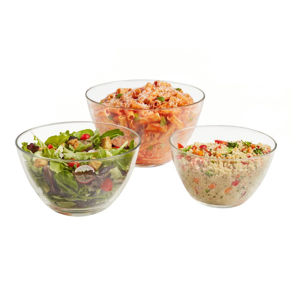 Urban Story MultiSize 3-Piece Glass Bowl Set
