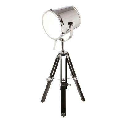 Lenoza 30 in. Chrome Table Lamp