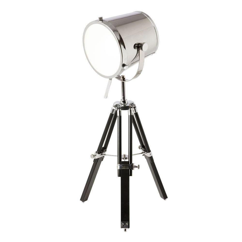 Lenoza 30 in. Chrome Table Lamp