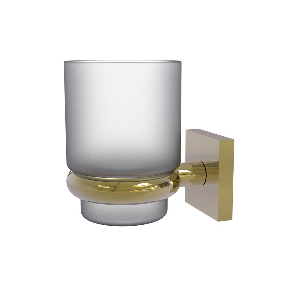 Allied Brass Montero Collection Wall Mounted Tumbler Holder in Unlacquered Brass