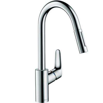 Focus Single-Handle Pull-Down Sprayer Kitchen Faucet in Chrome