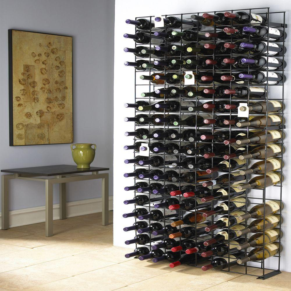Wine Enthusiast 144-Bottle Black Floor Wine Rack