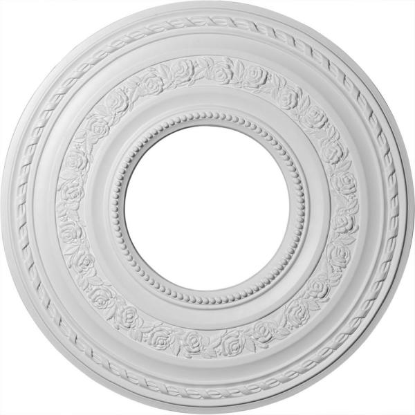 29-3/8'' x 11-5/8'' ID x 1-1/8'' Anthony Urethane Ceiling Medallion (Fits Canopies up to 11-5/8''), Primed White