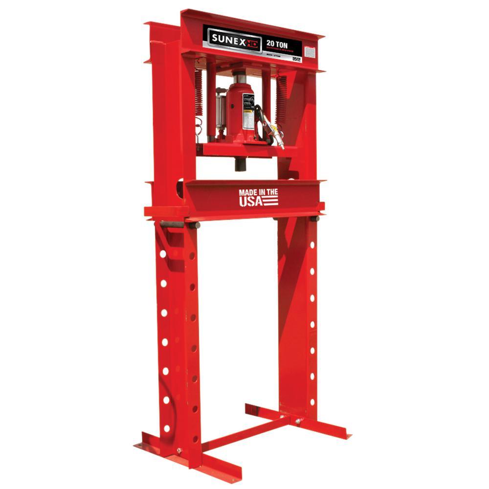 SUNEX 20-Ton Air/Hydraulic Shop Press