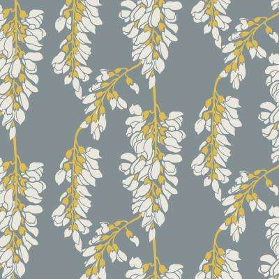 Nomad Collection Heart Breaker in Stone Dusty Yellow Removable and Repositionable Wallpaper
