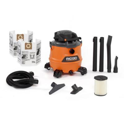 16 Gal. 6.5-Peak HP NXT Wet/Dry Shop Vacuum with Detachable Blower, Filter, Dust Bags, Hose and Accessories