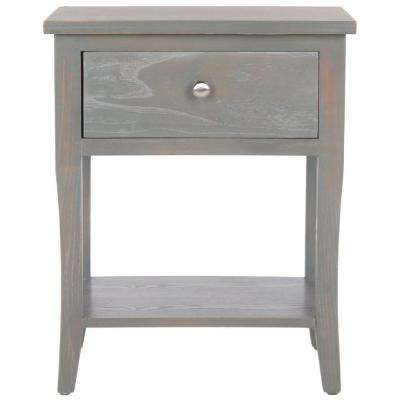 Coby French Grey Storage End Table