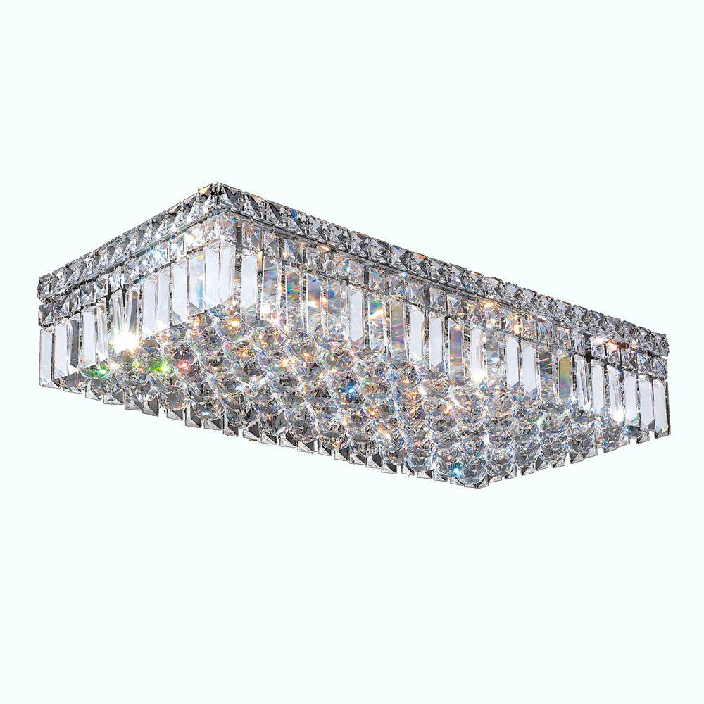 Cascade Collection 6 Light Crystal and Chrome Ceiling Light