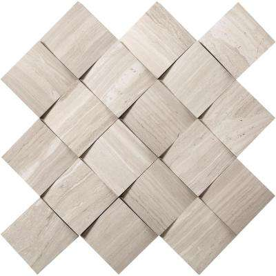 Limestone Stone Fireplace Mosaic Tile Tile The Home Depot