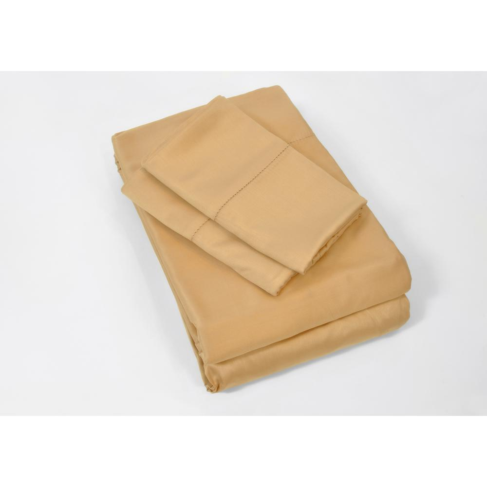 100% Rayon from Bamboo Copper (Brown) King Sheet Set