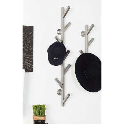 Gray Iron 7-Hook Wall Mounted Coat Rack