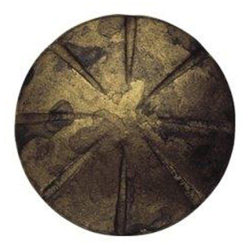 1.18 in. Antique Brass Distressed Round Knob
